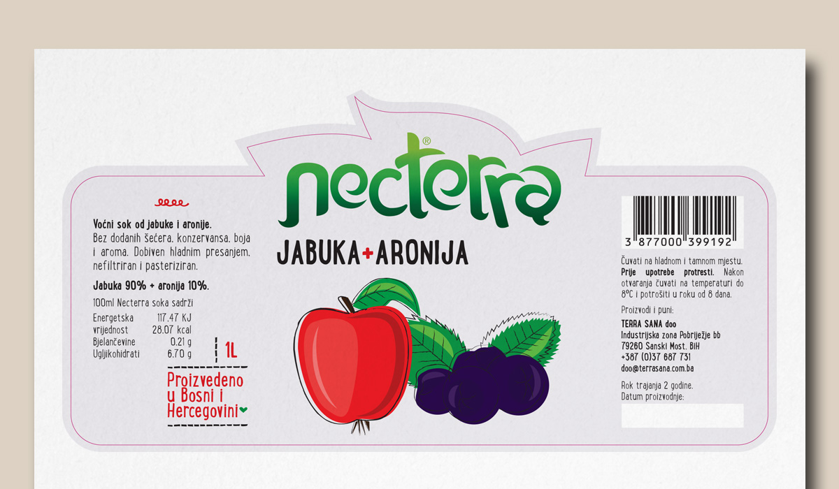 Necterra®  - Naming & Label Design