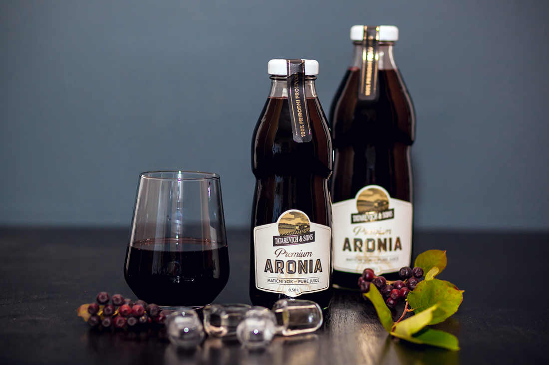 Aronia - Pure Juice - TATAREVICH & SONS UNVEILS REDESIGNED PACKAGING