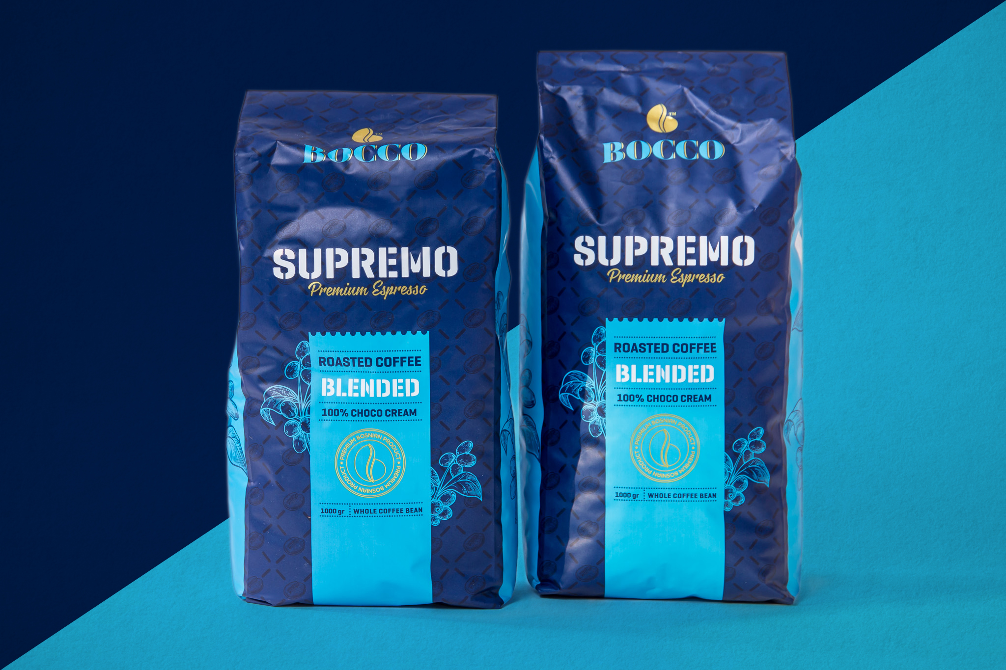Bocco Supremo - Premium Espresso - Packaging for Premium Espresso Brand